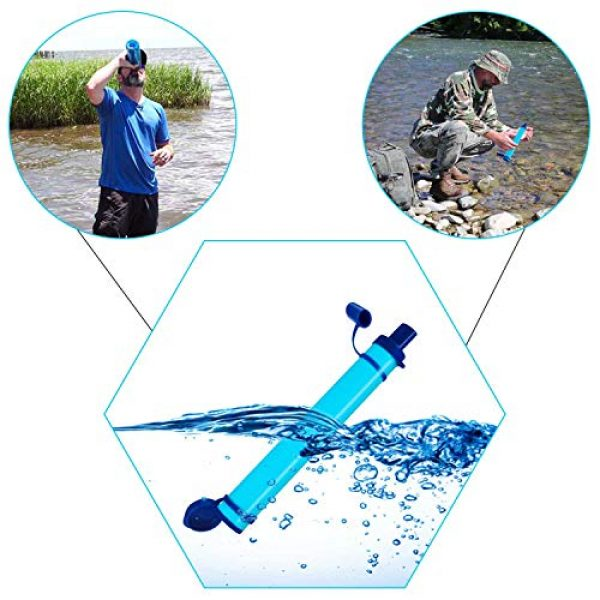 DOTSOG Survival Water Filter 6 DOTSOG 2 Pack Personal Water Filter Straw BPA Free with 1000L 3-Stage,Portable Water Purifier Lightweight for Hiking Camping Survival Outdoor Backpacking Traveling Emergency