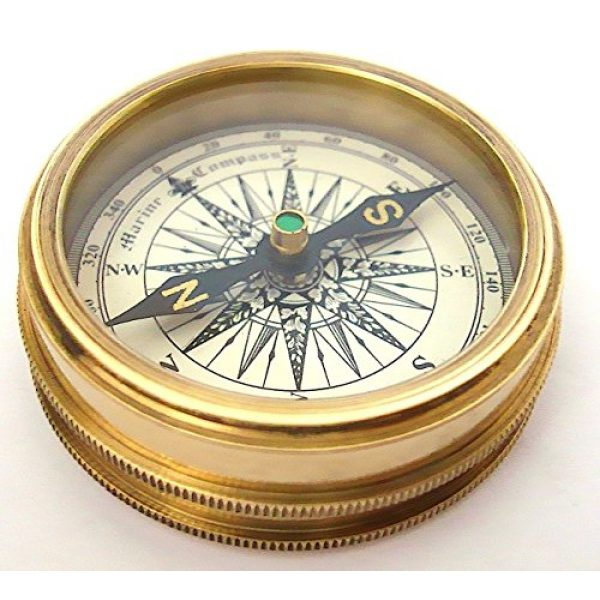 THORINSTRUMENTS Survival Compass 4 THORINSTRUMENTS (with device) Robert Frost Brass Poem Compass-Pocket Compass w Leather Case