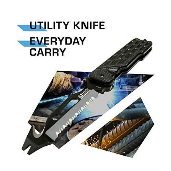 MTECH USA EVOLUTION Folding Survival Knife 2 MTech Evolution Spring Assisted Knife - MTE-A014-BK