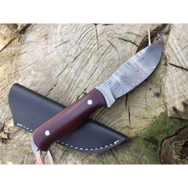 Perkin Fixed Blade Survival Knife 4 Perkin Damascus Steel Hunting Knife with Sheath Skinning & Bushcraft Knife - SK400