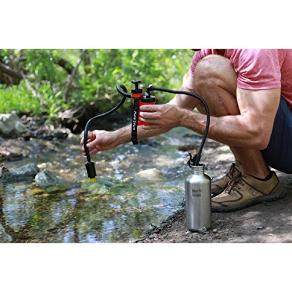 Seychelle Survival Water Filter 5 Seychelle Portable Water Filter Camping Pump - Outdoors, Hiking, Travel, Emergency Preparedness - Removes Bacteria, Viruses, Radiological Contaminants - Pocket Size