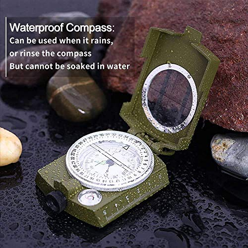 ydfagak Survival Compass 4 ydfagak Compass, Waterproof Hiking Military Navigation Compass with Fluorescent Design,Perfect for Camping Hiking and Other Outdoor Activities