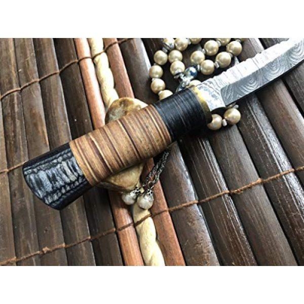 Perkin Fixed Blade Survival Knife 3 Perkin Handmade Knife Damascus Steel Hunting Knife with Sheath SK1900 Fix Blade Knife