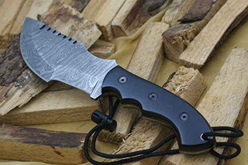 """Knife King Premium  6 Knife King Premium """"Tracker Damascus Hunting Bowie Knife. Micarta Handle.Razor Sharp. Solid Quality Hunter.Comes with a Sheath."""