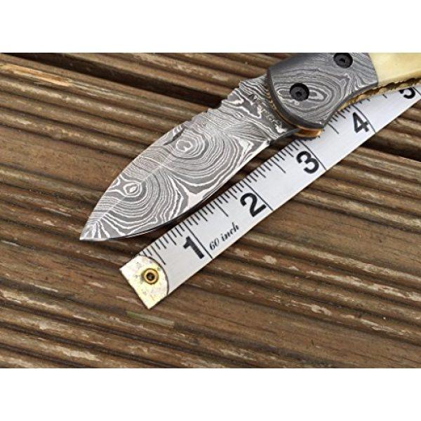 Perkin Folding Survival Knife 6 Perkin Knives - Handmade Damascus Pocket Knife - Beautiful Folding Knife