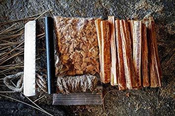 Steve Kaeser Survival Fire Starter 2 Steve Kaeser Fatwood 100% Natural Firestarter Sticks Hand Cut in The USA Ferro Rod Ferrocerium Flint Jute Fatwood Chips Striker Tin Container Survival Emergencies Camping Since 1989