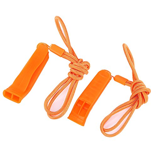 KASUNEN  2 KASUNEN Safety Whistle Marine Whistle with Lanyard (6 Pack) for Boating Camping Hiking Hunting Emergency Survival Rescue