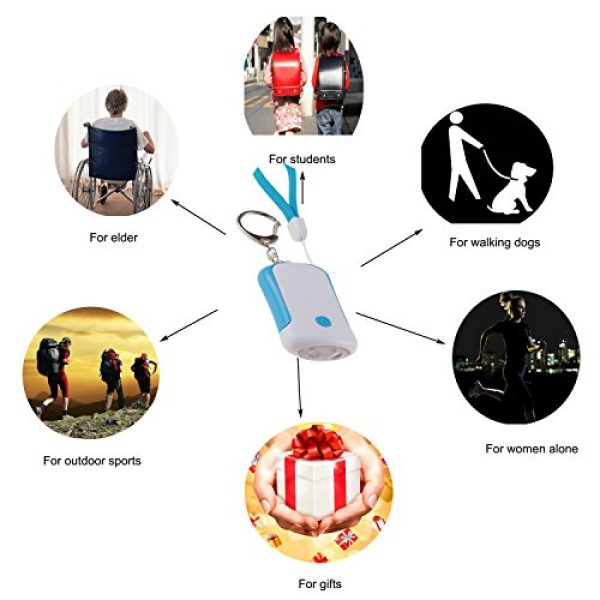 Guard Survival Alarm 7 Guard 125dB Personal Alarm with LED flashlight, Self Defense Keychain, survival whistle for Rape/Jogger/Women/Kids/Ederly Emergency
