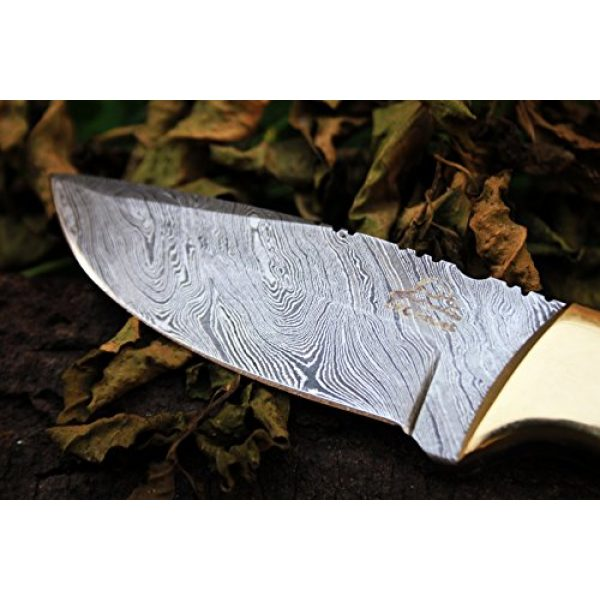 "DKC Knives Fixed Blade Survival Knife 2 15 4/4/18 Sale DKC-523 Gold Finch Damascus Hunting Handmade Knife Fixed Blade 9oz oz 8""Long 3.75"" Blade"