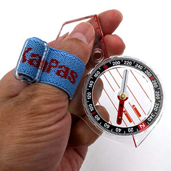 KanPas Survival Compass 3 Basic Training Competition Thumb Orienteering Compass for Foot Cross-Country Directional Movement