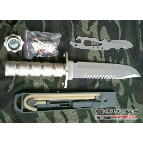 Crystal Fixed Blade Survival Knife 4 Crystal AITOR Jungle King I Silver Hunting Knife Straight Knife Tactical Knife Combat Camping Survival Outdoor AB216#