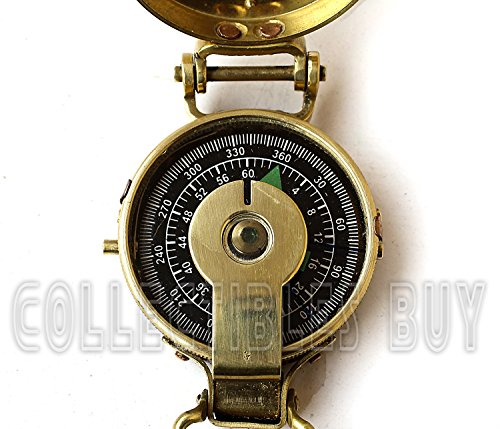 collectiblesBuy  3 collectiblesBuy Vintage Old Style Military Compass Nautical Pocket Shiny Brass Navigational Instrument
