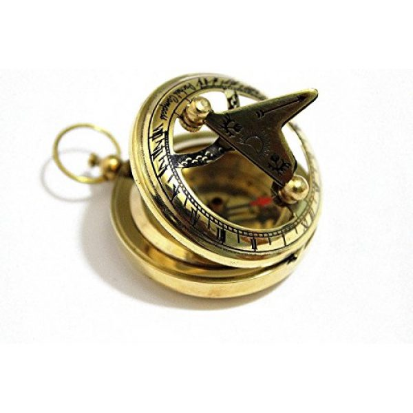 THORINSTRUMENTS Survival Compass 2 THORINSTRUMENTS (with device) Brass Push Button Direction Sundial Compass - Pocket Sundial Compass