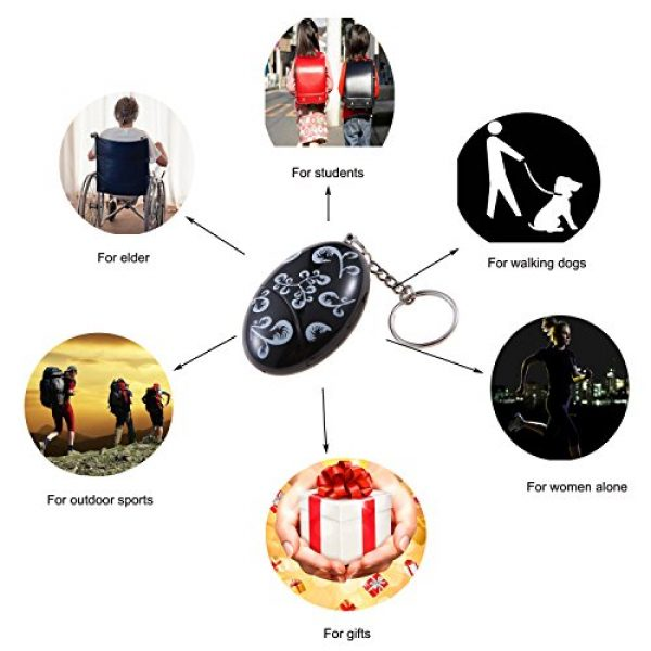 Guard Survival Alarm 6 Guard 120dB Emergency Personal Alarm,Self Defense Alarm Keychain,Survival Whistle for Jogger/Women/Kids/Elderly/Night Worker/Attack/Rape/Protection, Bag Decoration