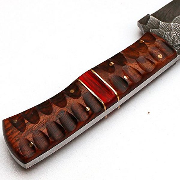 """PAL 2000 Fixed Blade Survival Knife 5 PAL 2000 """"8670"""" Damascus Steel Knife - Damascus Knife with Leather Sheath"""
