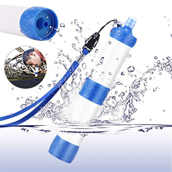 XIAOQIAO Survival Water Filter 2 XIAOQIAO Straw Water Filter, Hiking Water Purifier, Camping Straw Filter for Backpacking,Outdoor Water Filtration System Survival Gear for Camping Hiking Climbing and Emergency