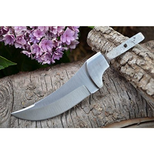 Whole Earth Supply Fixed Blade Survival Knife 3 Whole Earth Supply (Set of 2) Custom Blank Blade Upswept Skinner Knife Knives Hunting Small Making w/Guard BL0121