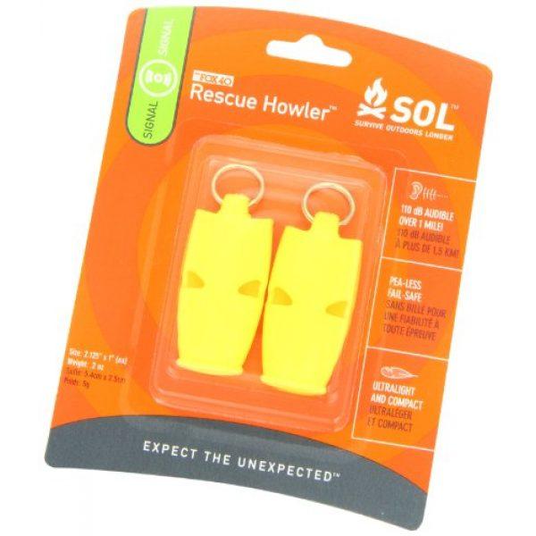 S.O.L. Survive Outdoors Longer Survival Whistle 3 S.O.L. Survive Outdoors Longer Rescue Howler Whistle (2-Count), 0140-1002