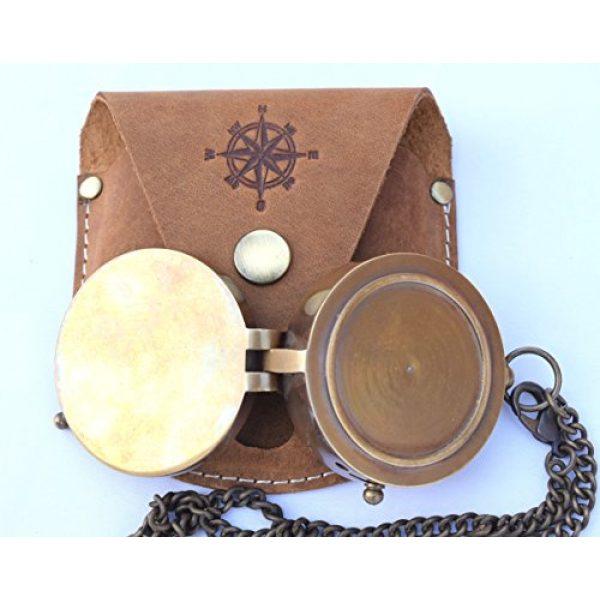 NEOVIVID Survival Compass 4 NEOVIVID Brass Pocket Compass, Engravable Compass, Camping Compass, Hiking Compass, Wedding Gifts