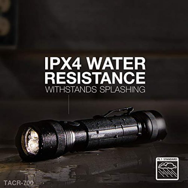 Energizer Survival Flashlight 4 Energizer Advanced LED Flashlights, IPX4 Water Resistant, Super Bright, Aircraft Grade Metal Tactical Flashlight, USB Rechargeable or AA Battery Option (Batteries Included)