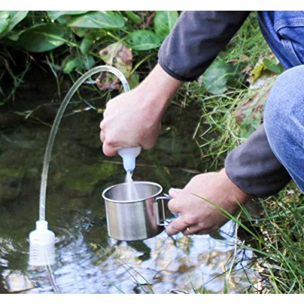 Sagan Life Survival Water Filter 3 XStream Straw Water Purifier, Ultralight Backpacking Water Filter, Hiking, Camping, Survival, Travel, Straw Water Filter Removes Bacteria, Virus, Parasites, Lead, 2 Straw extends to 4, 250 Gal