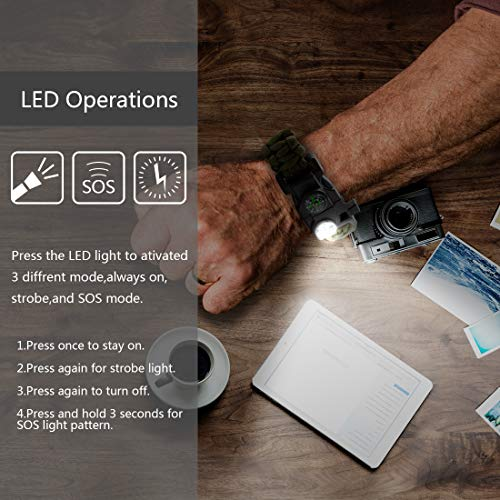 Tactical Emergency Gear Kit Includes SOS LED Flashlight