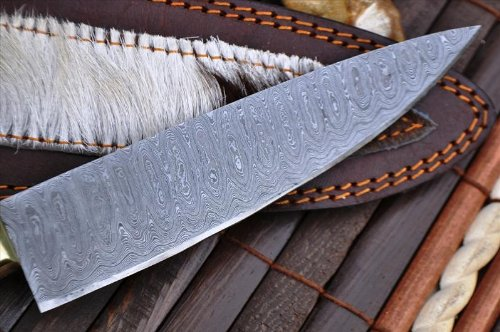 Perkin Knives  3 Perkin Knives - Custom Handmade Damascus Hunting Knife - Beautiful Kitchen & Camping Knife