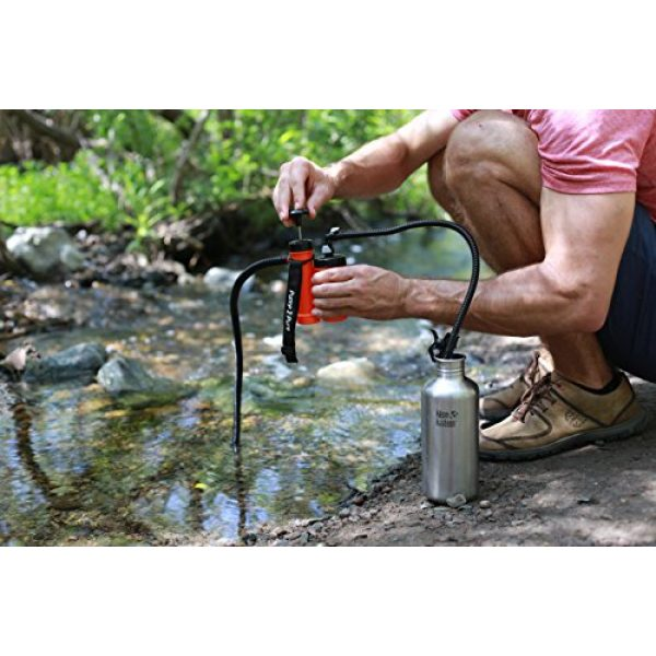 Seychelle Survival Water Filter 7 Seychelle Portable Water Filter Camping Pump - Outdoors, Hiking, Travel, Emergency Preparedness - Removes Bacteria, Viruses, Radiological Contaminants - Pocket Size