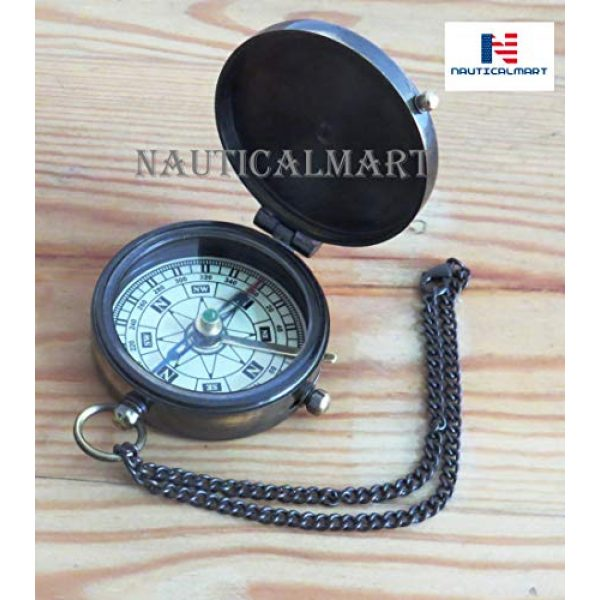 NauticalMart Survival Compass 2 Brass Compass Engraved with NOT All Those WHO Wander are Lost with Gift Case Nautical Collectible