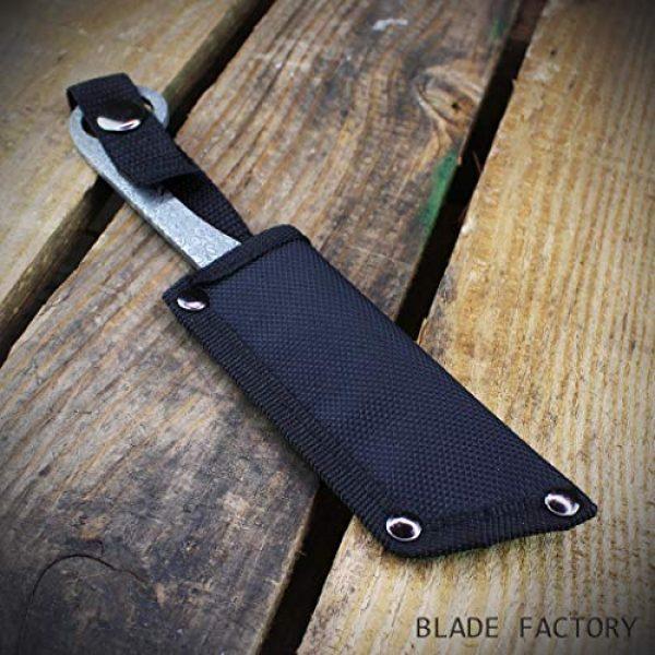 MASTER USA Fixed Blade Survival Knife 5 MASTER USA 8 Fixed Blade Straight Edge Tanto Knife with Sheath | Hunting Combat Camping Fishing | Damascus Style Straight Razor Design |