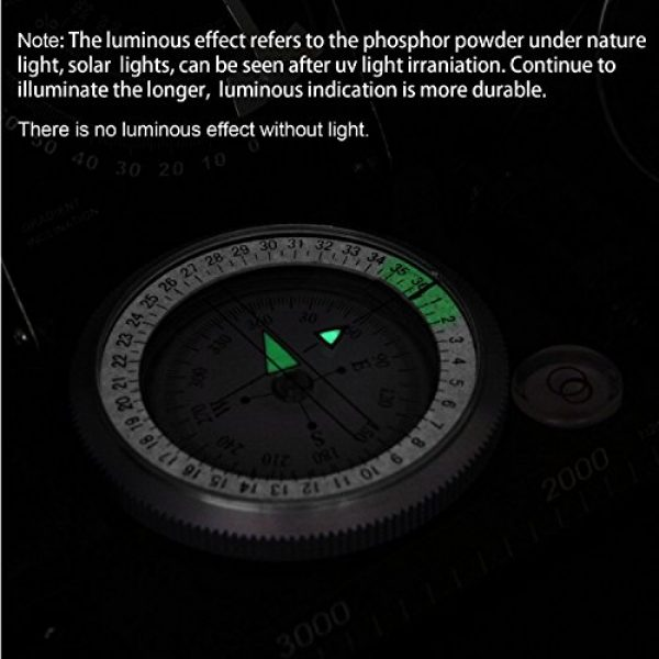 Beileshi Survival Compass 4 beileshi Professional Multifunction Military Army Metal Sighting Compass W/inclinometer Camping and Hiking Waterproof Compass
