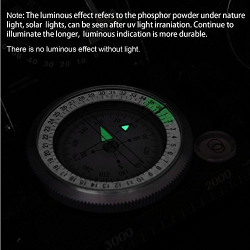 Beileshi  4 beileshi Professional Multifunction Military Army Metal Sighting Compass W/inclinometer Camping and Hiking Waterproof Compass