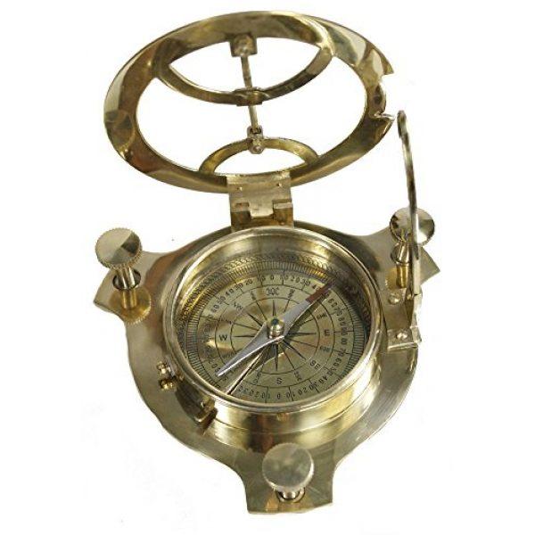 Zap Impex Survival Compass 3 Zap Impex Sundial Compass-Brass Metal Compass Sundial (Size- 3 Inch)
