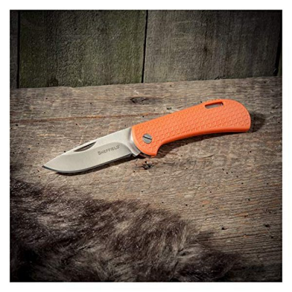 """Sheffield Folding Survival Knife 5 Sheffield 12207 Fallow 2.5"""" Folding Knife 