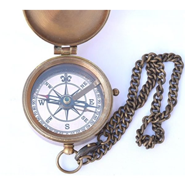 NEOVIVID Survival Compass 4 NEOVIVID Thoreau's Go Confidently Quote Engraved Compass with Stamped Leather case, Camping Compass, Boating Compass, Gift Compass, Graduation Day Gifts