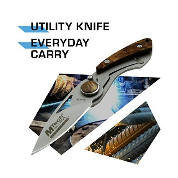 MTECH USA EVOLUTION Folding Survival Knife 2 MTech Evolution Folding Knife - MTE-FDR004-WD
