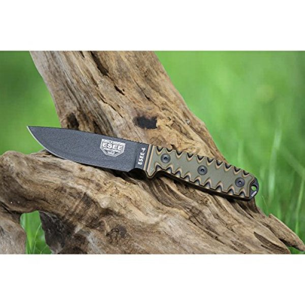 ESEE Fixed Blade Survival Knife 5 ESEE 4P Survival Fixed Blade Knife, OEM Sawtooth Handle Design