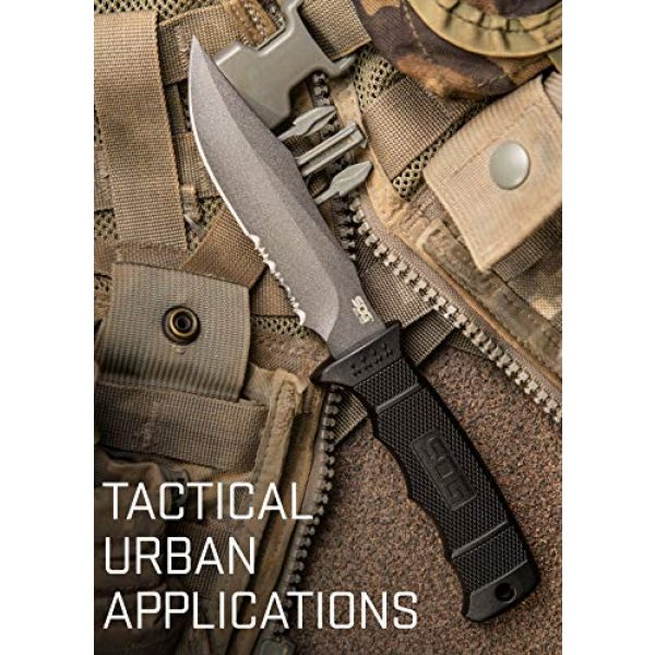 SOG Fixed Blade Survival Knife 3 SOG Fixed Blade Knives with Sheath - SEAL Pup Tactical Knife, Survival Knife and Hunting Knife w/ 4.75 Inch Blade and Knife Sheath