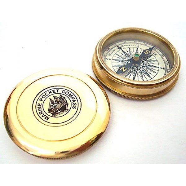 THORINSTRUMENTS Survival Compass 3 THORINSTRUMENTS (with device) Robert Frost Brass Poem Compass-Pocket Compass w Leather Case