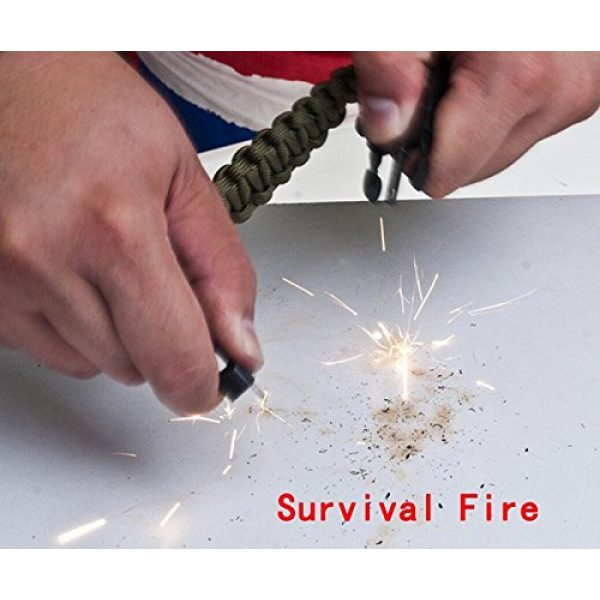 Wsobue Survival Paracord Bracelet 5 Paracord Bracelet,Survival Gear Kit Fire Starter Whistle Compass Emergency Knife,Perfect for Hiking Camping Fishing and Hunting