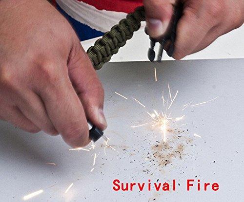 Survival Gear Kit Fire Starter Whistle Compass Emergency Knife