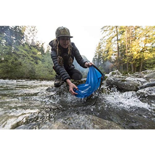 LifeStraw Survival Water Filter 6 LifeStraw Flex Advanced Water Filter with Gravity Bag - Removes Lead, Bacteria, Parasites and Chemicals