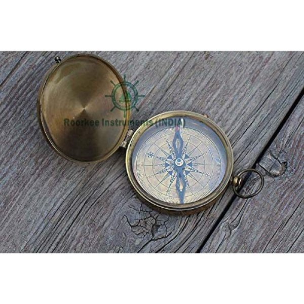 Roorkee Instruments India Survival Compass 3 Thoreau's Go Confidently Quote/Robert Frost Poem Engraved Compass/J R R Tolkien/John Mascficld/ Quote Compass/Gift for All Occasion.Camping Compass, Boating Compass