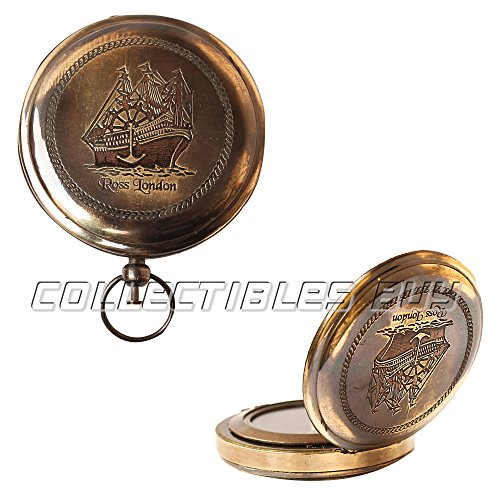 collectiblesBuy  7 Collectibles Buy Nautical Ross London Brass Round Pocket Compass Marine Navigational Royal Device Gift Item