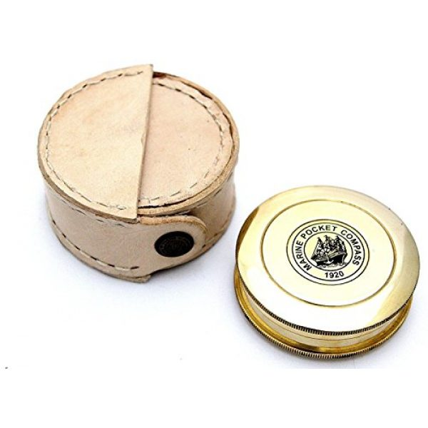 THORINSTRUMENTS Survival Compass 5 THORINSTRUMENTS (with device) Robert Frost Brass Poem Compass-Pocket Compass w Leather Case