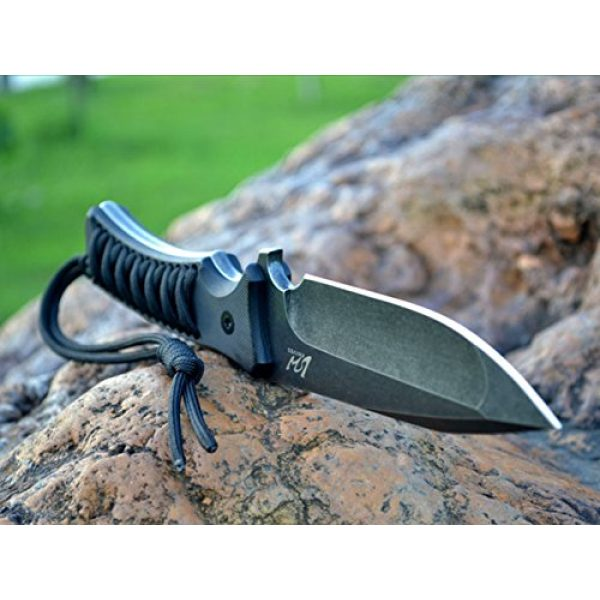 MASALONG Fixed Blade Survival Knife 4 Masalong Fixed Blade Hunting Knife Straight Edge Blade Extreme Survival D2 Steel and Sheath