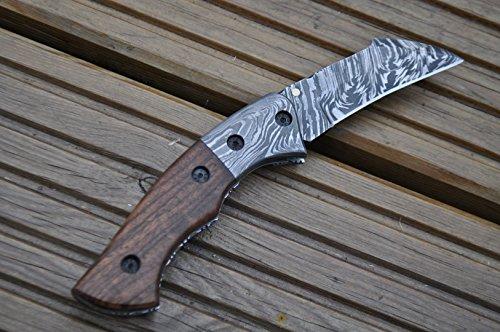 Perkin  4 Perkin - Handmade Damascus Pocket Knife - Beautiful Folding Knife
