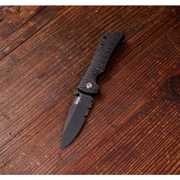 Southern Grind Folding Survival Knife 6 Southern Grind Spider Monkey Drop Point Folding Knife with Carbon Fiber Handle