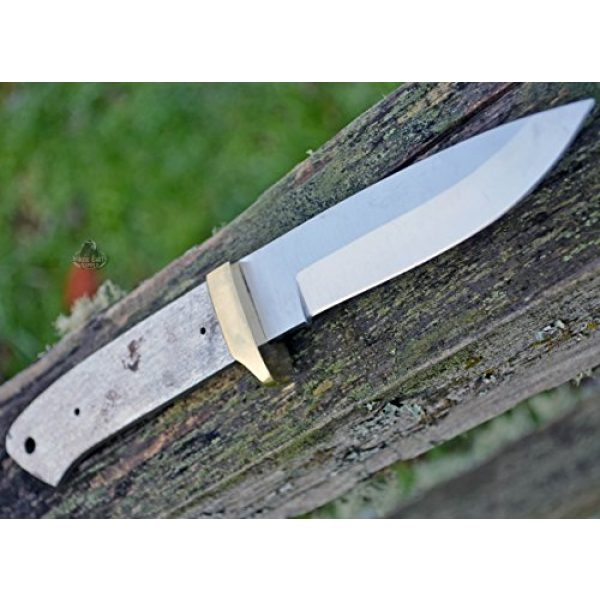 Whole Earth Supply Fixed Blade Survival Knife 3 Whole Earth Supply (Set of 2) Drop Point B Knives Knife Blades Blanks Hunting Blank Blade Hunter Parts Making BL7709