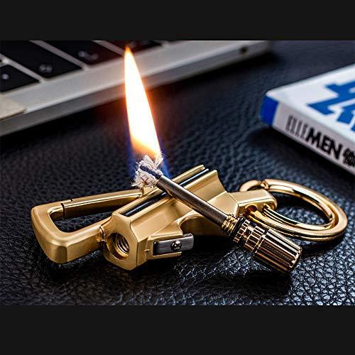 Lixada Survival Keychain 5 Lixada Keychain Bottle Opener with Flint Metal Matchstick Fire Starter Great Kerosene Refillable Keychain Multitool Mountaineering Buckle Lighter Emergency Survival Gear